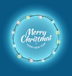 different color lighting garland set on dark vector image