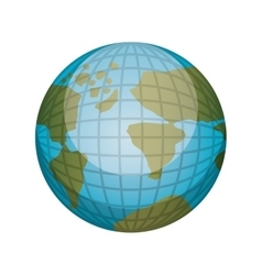 Earth world map with continents in 3d vector