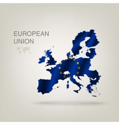 Flag of EUROPEAN UNION as a country vector image vector image