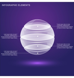 Glass sphere infographic vector