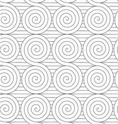Gray touching archimedean spirals on continues vector