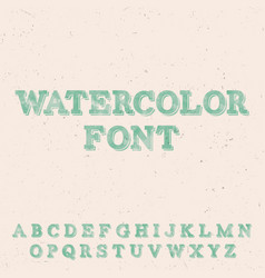 handwritten watercolor font template vector image