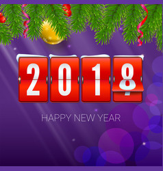 New year is coming 2018 background with vector
