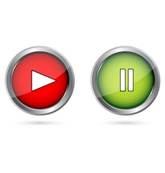 play push buttons vector image vector image