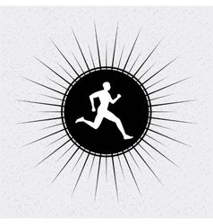 running design vector image vector image