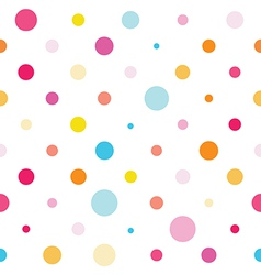 Seamless colorful spotted pattern vector