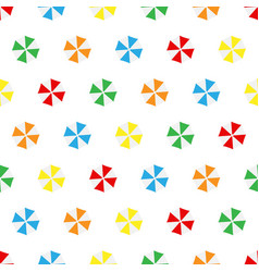 Seamless pattern summer beach different colors vector