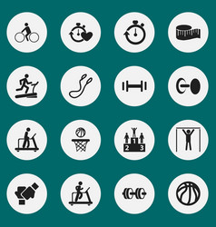 Set of 16 editable healthy icons includes symbols vector