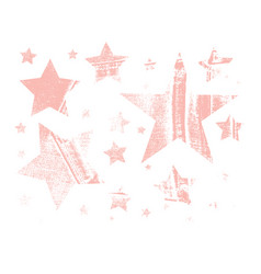 Set of grunge stars vector