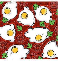 Shakshuka pattern eggs and more vector