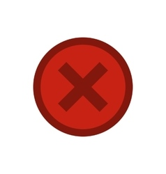 Sign selection cross in circle icon flat style vector