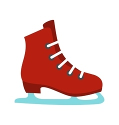 Skates icon flat style vector image vector image