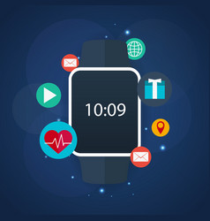 smart watch for fitness and sport flat vector image