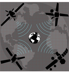 wireless satellite vector image vector image