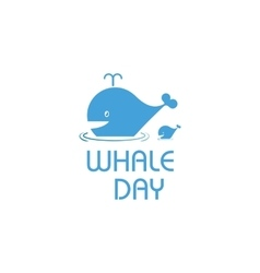Isolated cartoon whale  ocean vector