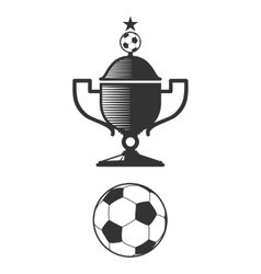 Soccer cup and ball design elements vector image