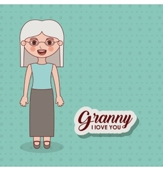 Grandmother granny cartoon design vector