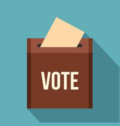 brown ballot box for collecting votes icon vector image