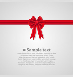 ribbon with a bow vector image