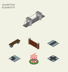 isometric architecture set of carousel highway vector image