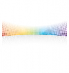 Color spectrum dots vector