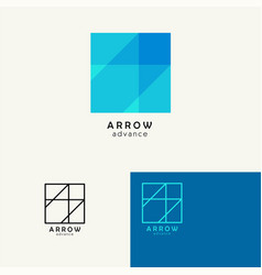 arrow  trendy minimalistic template design for vector image