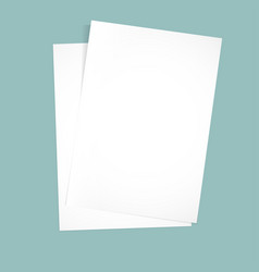 Paper on a blue background mock up vector
