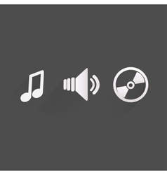 Background with music iconsflat design vector