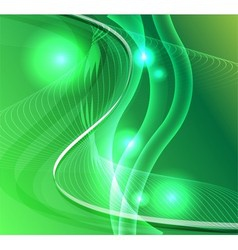 Wave line burst star green background vector