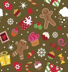 Seamless print christmas holidays elements vector