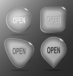 Open glass buttons vector