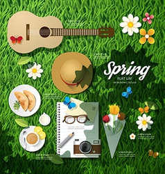 Infographic travel planning a spring vacation vector