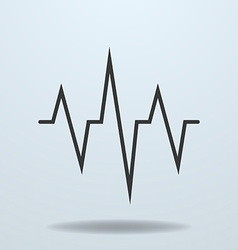 Icon of cardiogram ecg vector