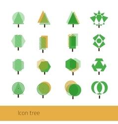 Icon tree yellow vector