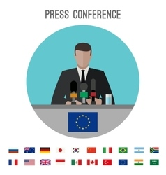 Press conference icon vector