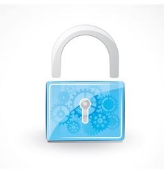 Secure padlock vector