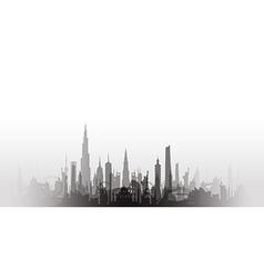 cityscape with fade black vector image