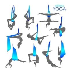 Anti-gravity yoga for women vector image