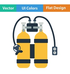 Flat design icon of scuba vector