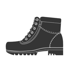 Black boots with laces graphic vector