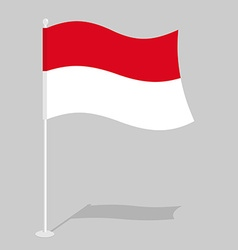 Indonesia flag official national symbol of vector