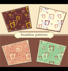 Set Seamless abstract geometric patterns vector image