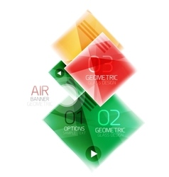Glossy color squares vector