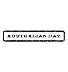 Australian day watermark stamp vector