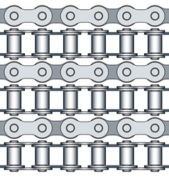 Bike chain links vector image vector image