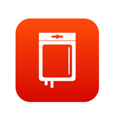 Blood transfusion icon digital red vector