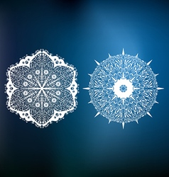 Decorative abstract snowflakes vector image