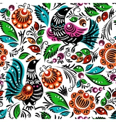 Folk painting seamless vector image