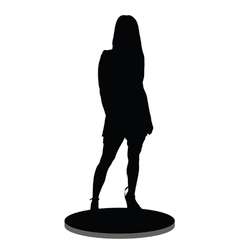 girl silhouette on a white background vector image