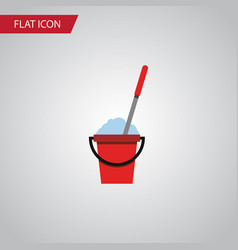isolated cleaning flat icon bucket element vector image vector image